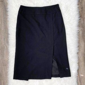 VINCE Straight Crepe Knee Length Black Skirt